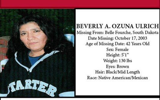 Missing poster for Beverly Ozuna ulrich