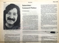 Leonard Peltier, March 1985