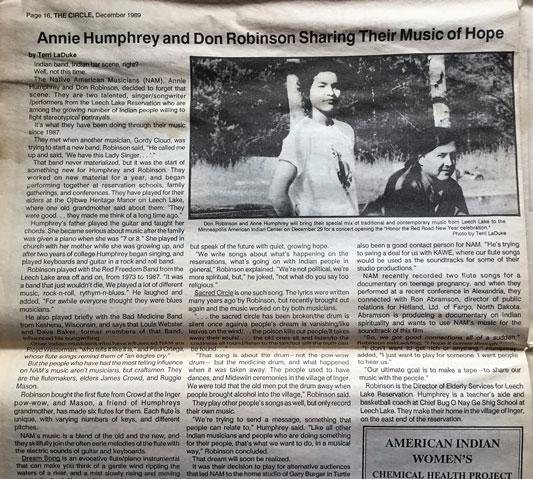 Annie Humphrey and Don Roberson, Dec 1989