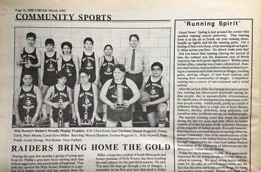 Holy Rosary Raiders, March 1988