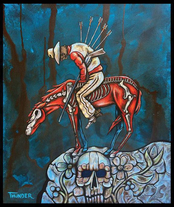 Painting by Jonathan Thunder